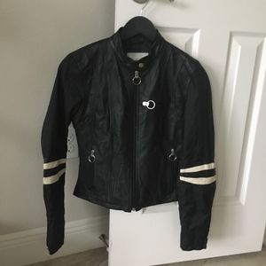 Real Black Leather Jacket XS Slim Fit